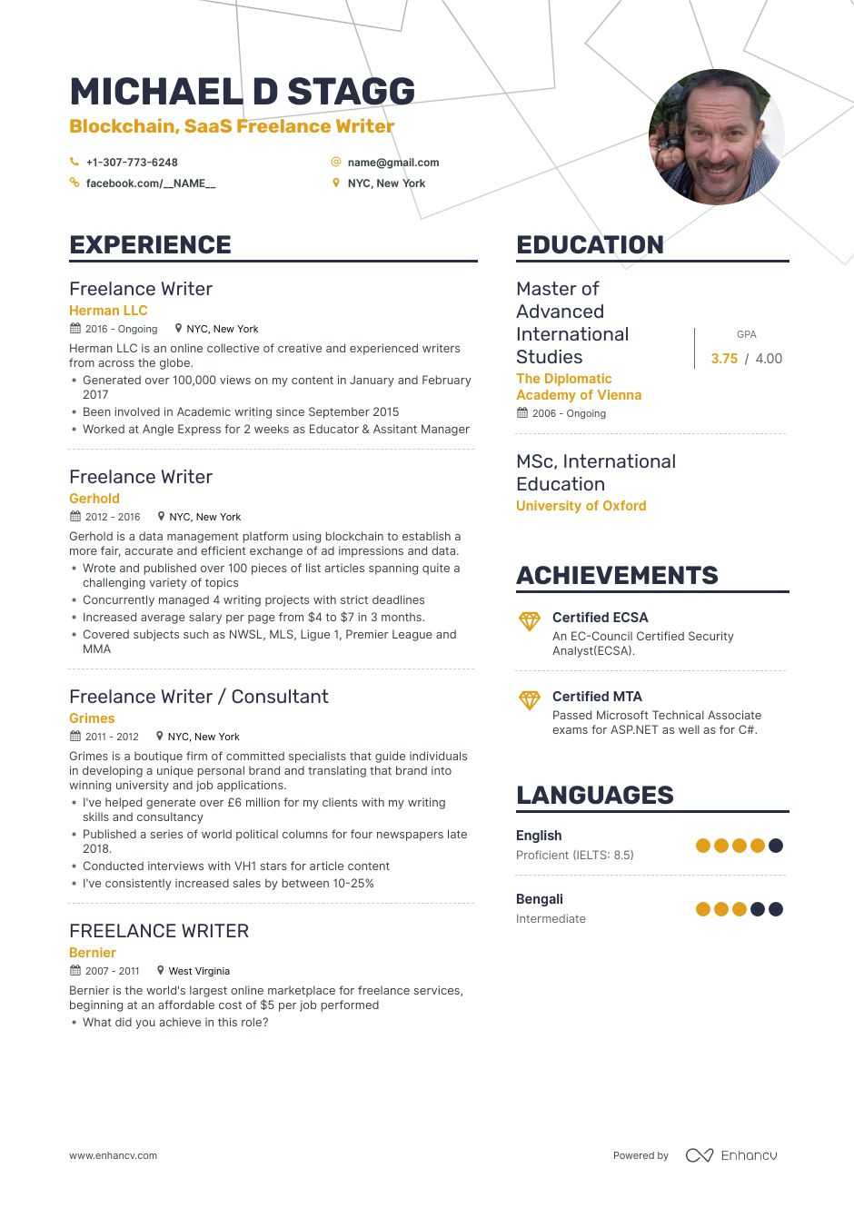 freelance writer resume examples and skills you need to get hired example entry level Resume Freelance Resume Example