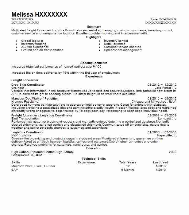 freight forwarder resume example blue water shipping fort for forwarding company good Resume Resume For Freight Forwarding Company