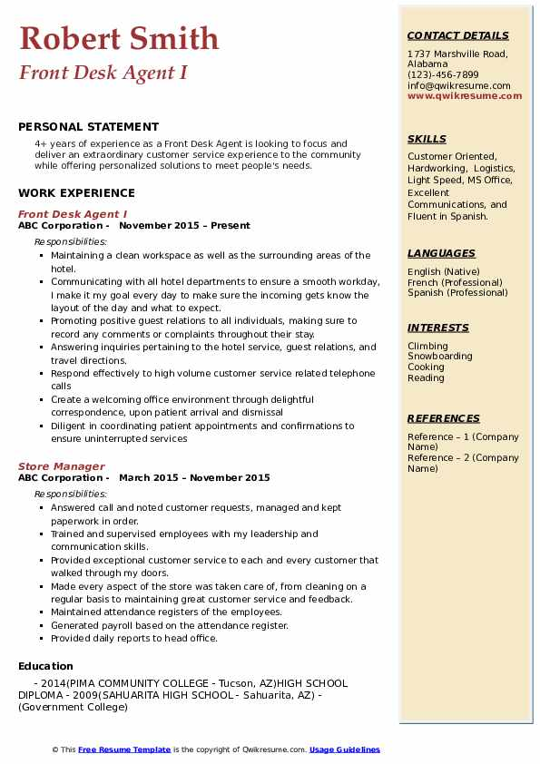 front desk agent resume samples qwikresume pdf tailoring services dark template national Resume Front Desk Agent Resume