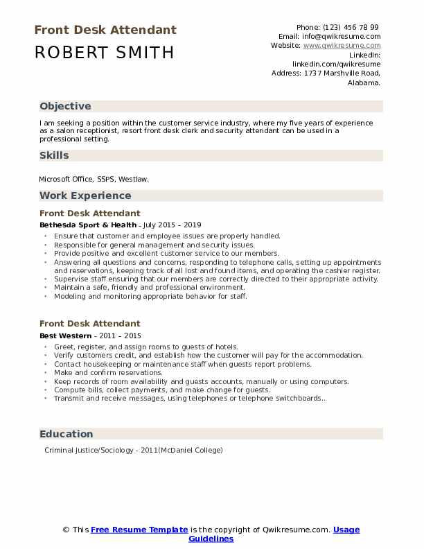 front desk attendant resume samples qwikresume examples pdf talent acquisition Resume Front Desk Resume Examples