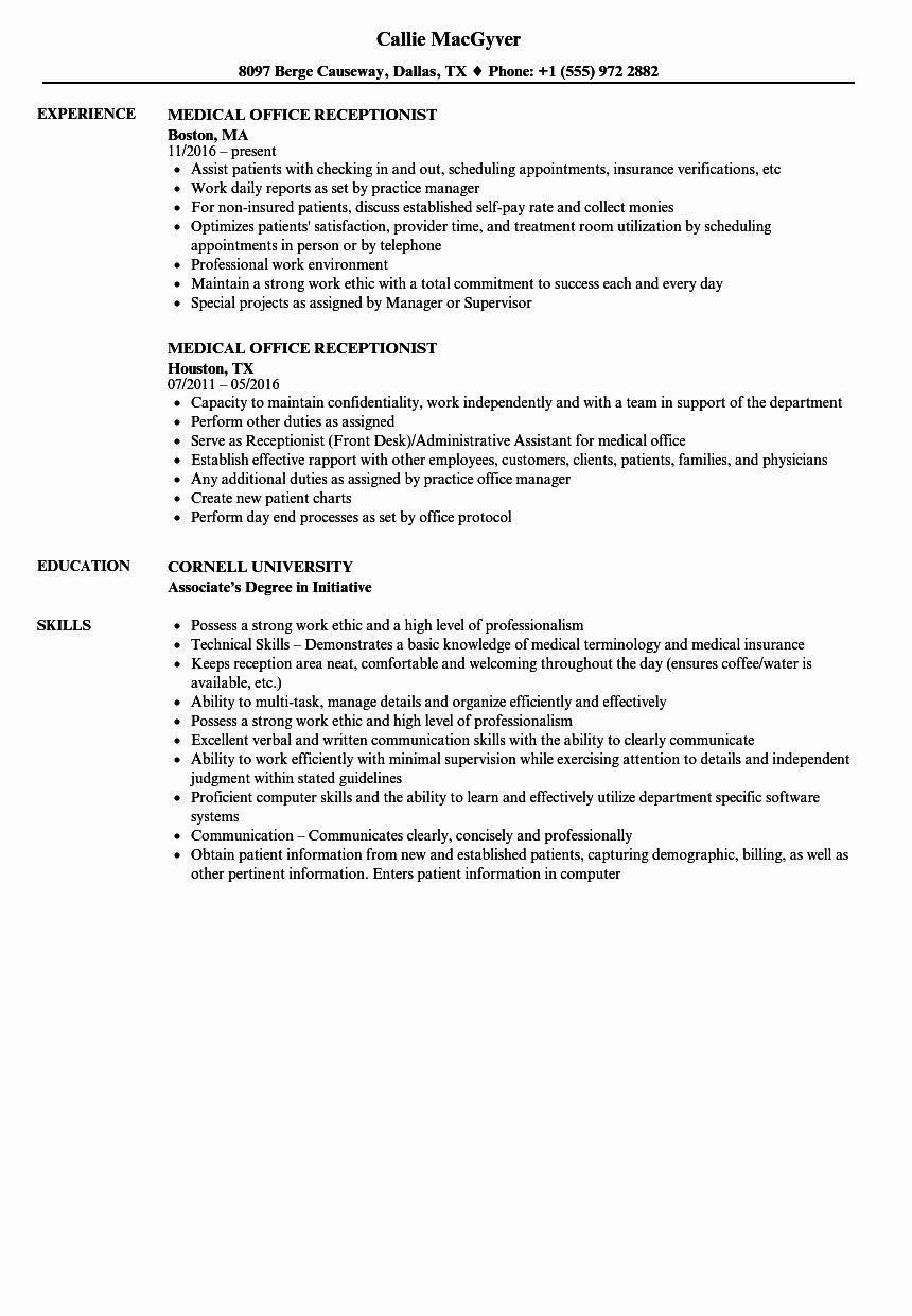 front desk receptionist resume luxury medical samples jobs examples summary sample fun Resume Front Desk Receptionist Resume Sample