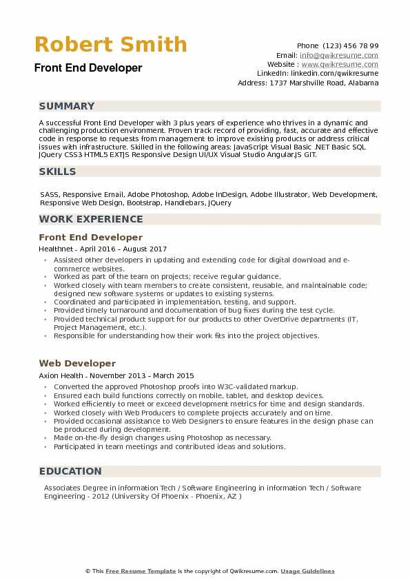 front end developer resume samples qwikresume example pdf cover letter examples for Resume Front End Developer Resume Example