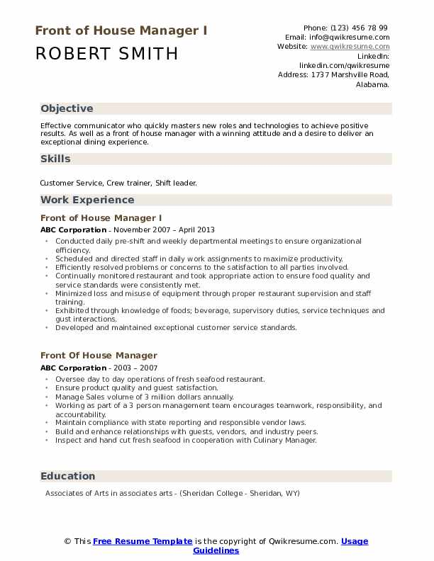 front of house manager resume samples qwikresume staff pdf opening statement on match psg Resume Front Of House Staff Resume