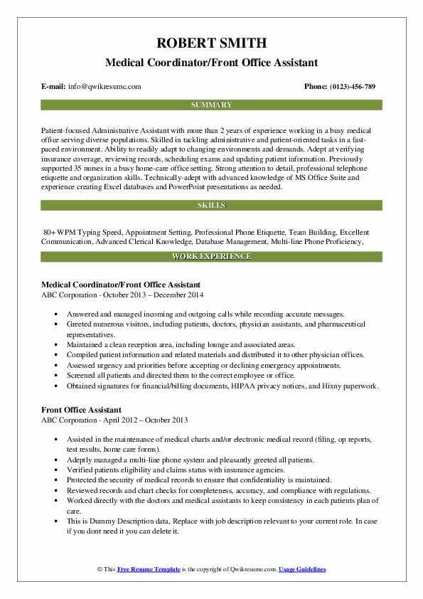 front office assistant resume samples qwikresume medical pdf sample importance of writing Resume Medical Office Assistant Resume