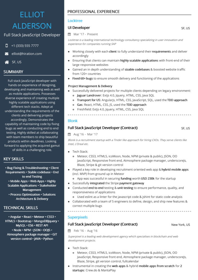 full stack developer resume louiesportsmouth examples sample ecommerce analyst hd images Resume Full Stack Developer Resume Examples