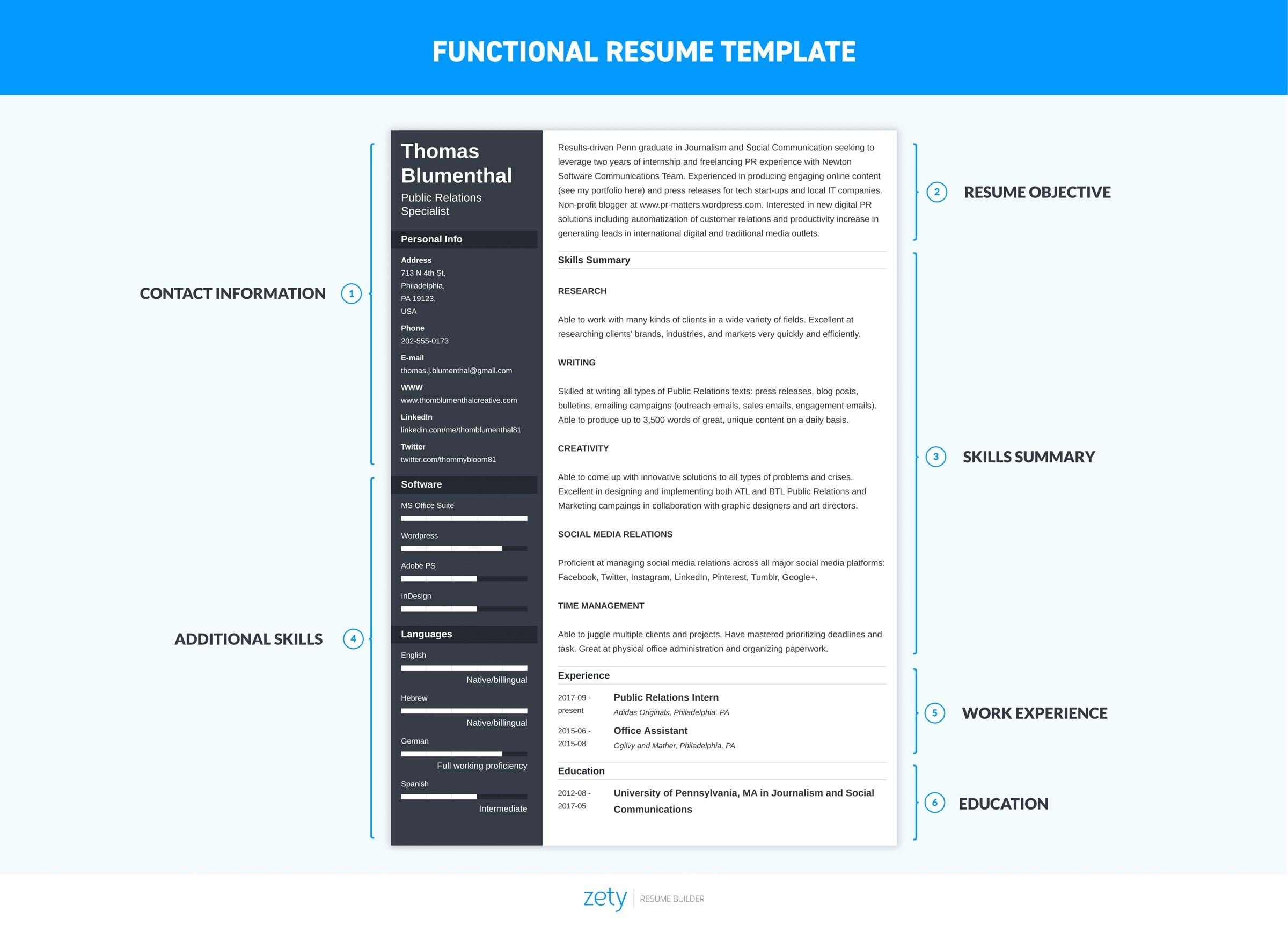 functional resume examples skills based templates best template computer science graduate Resume Best Functional Resume Templates