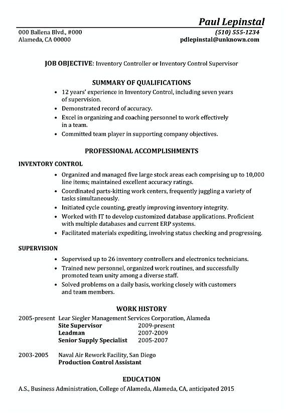 functional resume sample inventory control supervisor manager to apply manage skills Resume Inventory Manager Resume
