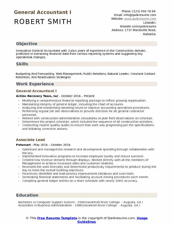 general accountant resume samples qwikresume accounting objective statements pdf Resume Accounting Resume Objective Statements