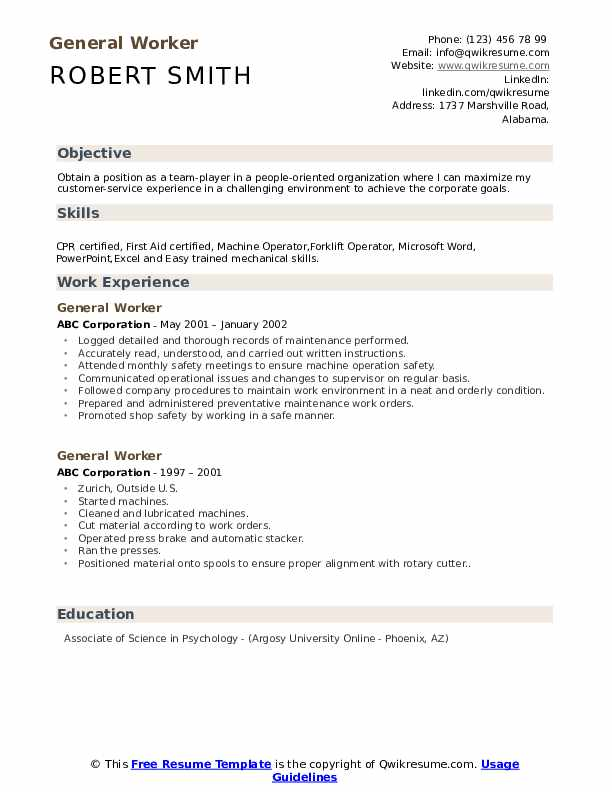 general worker resume samples qwikresume objective for any position pdf requirements Resume General Objective For Resume For Any Position
