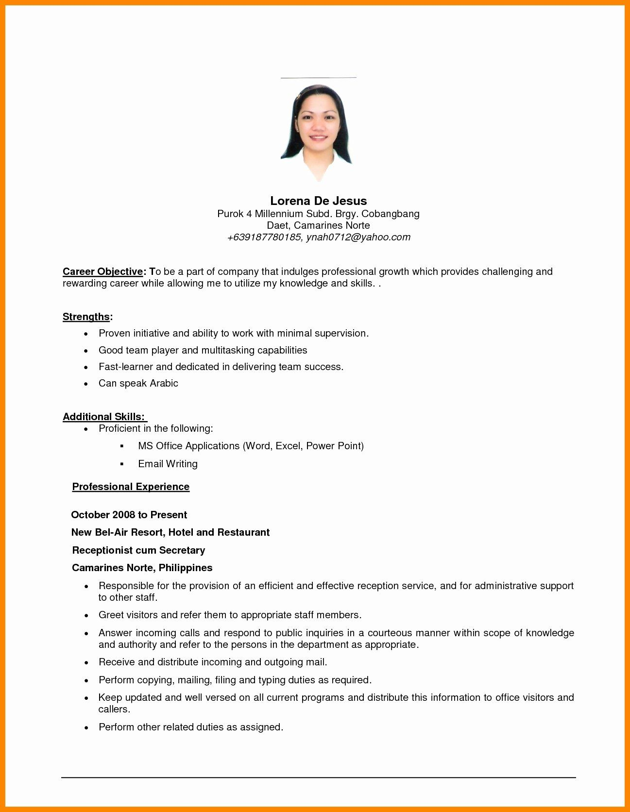 generic objective for resume inspirational general examples career objectives job Resume General Resume Objectives For Students