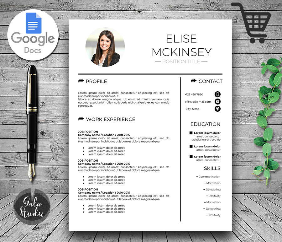 google docs resume template with photo and cover letter modern makemedesign gdoc behavior Resume Cover Letter And Resume Template Google Docs