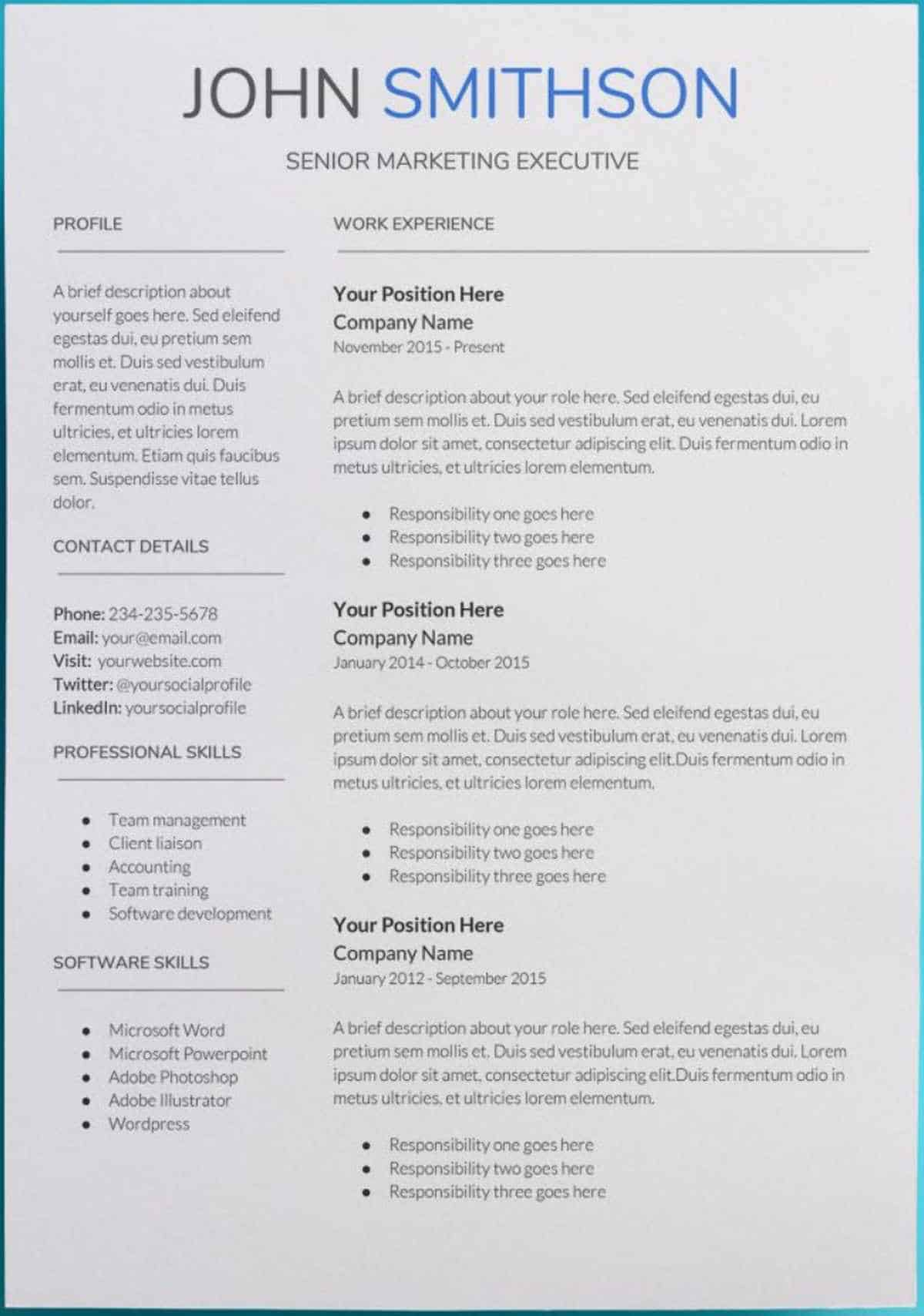 google docs resume templates downloadable pdfs chronological template saturn free most Resume Chronological Resume Template Google Docs