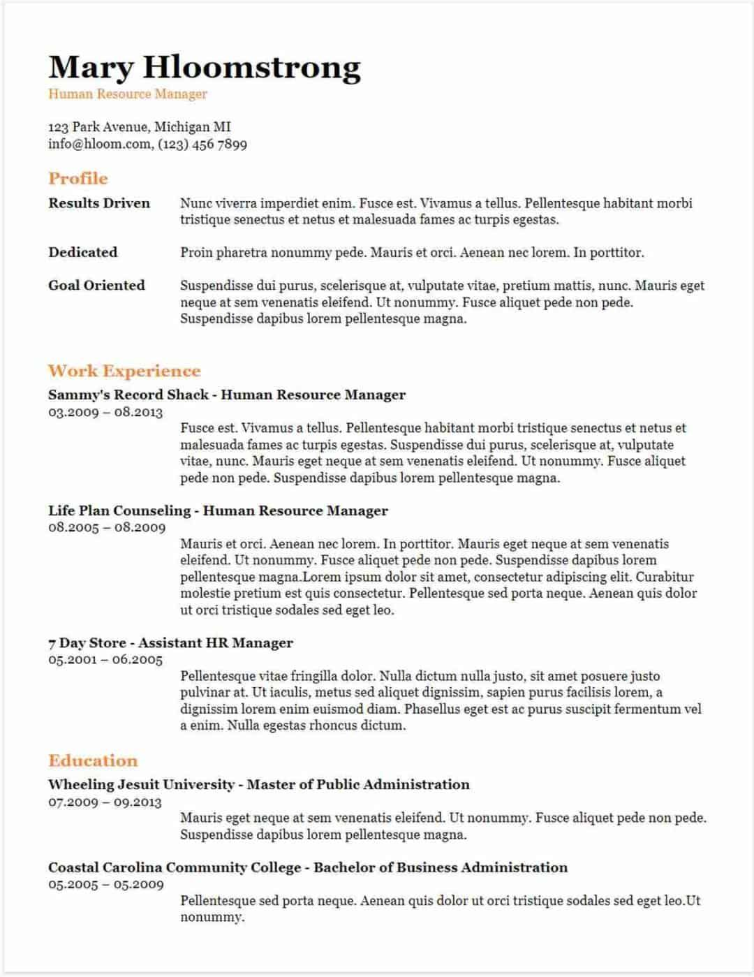 google docs resume templates downloadable pdfs sample chronological template college Resume Chronological Resume Template Google Docs