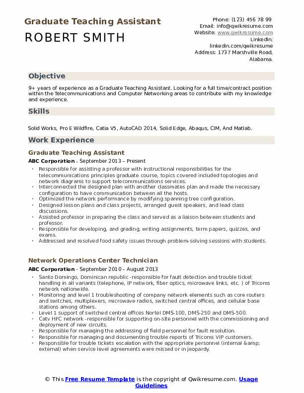 graduate teaching assistant resume samples qwikresume teacher pdf continuing education on Resume Teacher Assistant Resume