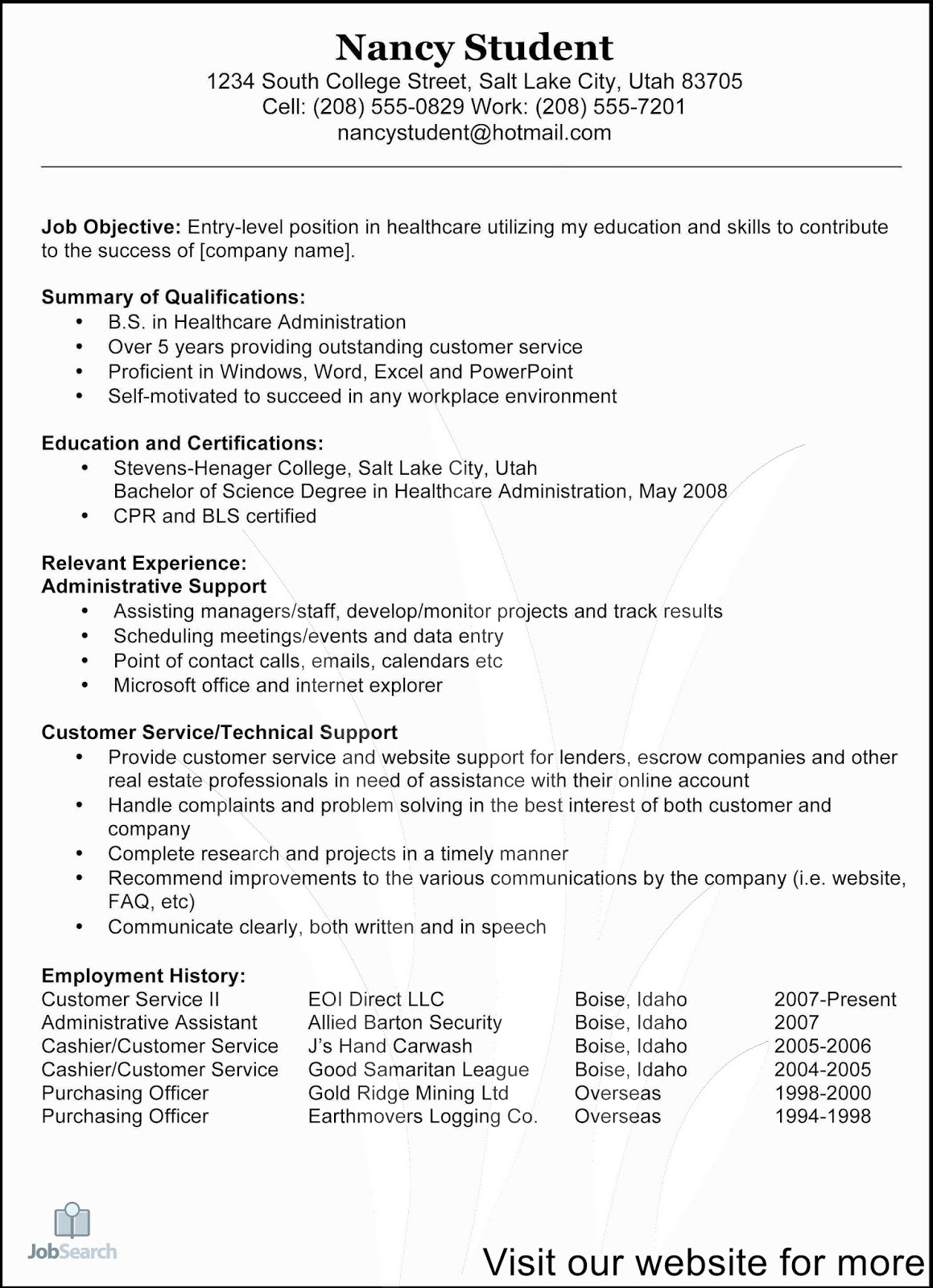 great customer service resume examples templates good summary for computer hardware Resume Good Resume Summary For Customer Service