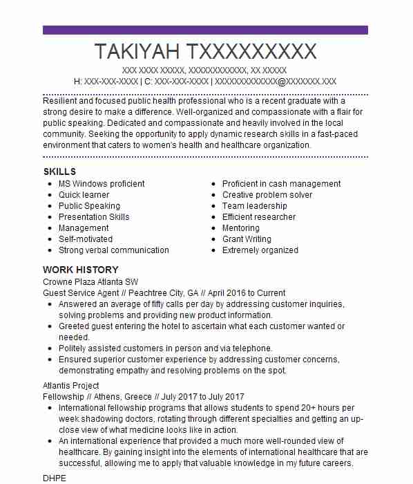 guest service agent resume example resumes livecareer short note on writing material Resume Guest Service Agent Resume