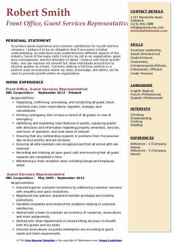 guest services representative resume samples qwikresume service agent pdf example of for Resume Guest Service Agent Resume