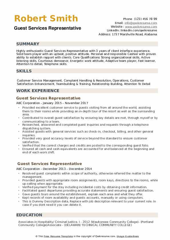 guest services representative resume samples qwikresume service agent pdf screening best Resume Guest Service Agent Resume