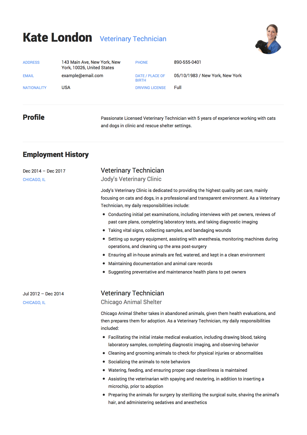 guide veterinary technician resume samples pdf sample chuck college sophomore tips for Resume Veterinary Technician Resume Sample