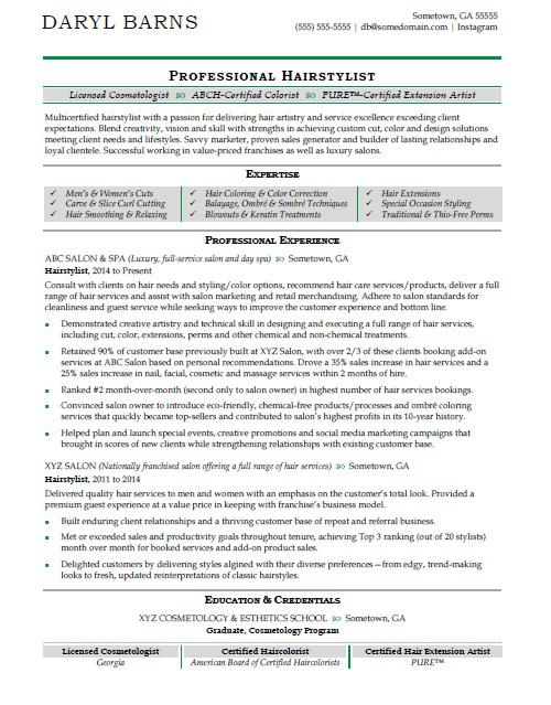 hair stylist resume sample monster cosmetology student examples hairstylist application Resume Cosmetology Student Resume Examples