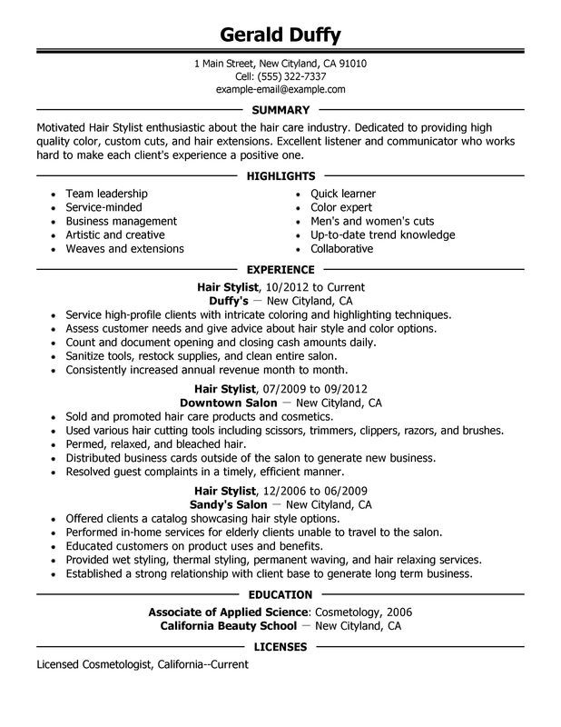 hairstylist resume job samples examples student template hair stylist sample for high Resume Hair Stylist Resume Sample