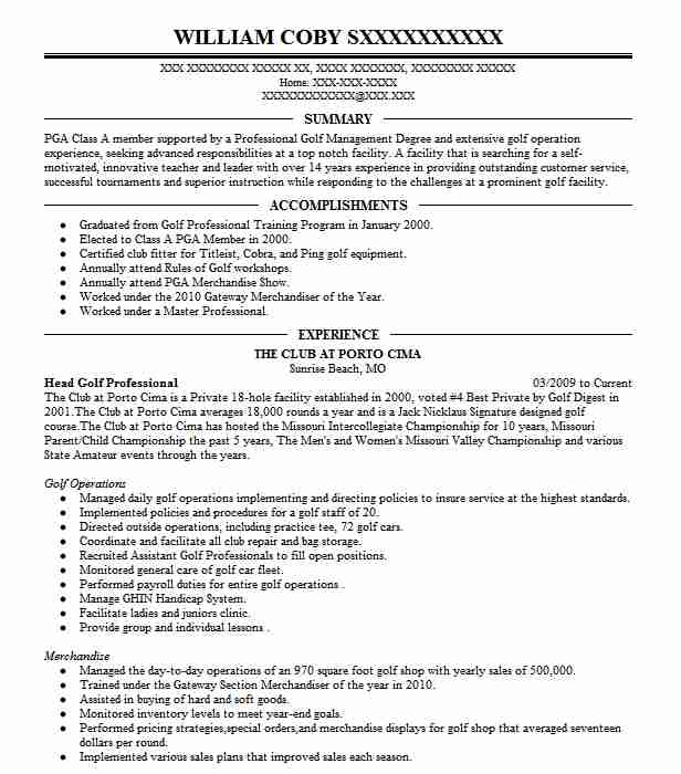 head golf professional resume example company name assistant heading definition Resume Assistant Golf Professional Resume