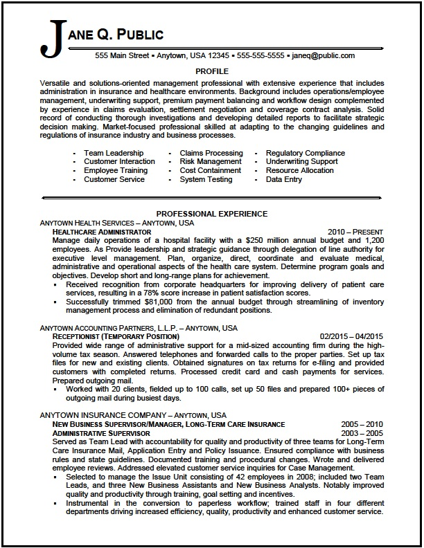 healthcare administrator resume sample the clinic summary examples administrator01 format Resume Medical Administration Resume Examples