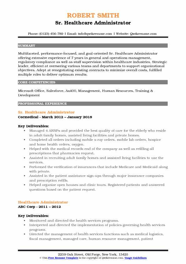 healthcare administrator resume samples qwikresume good objectives for pdf margin Resume Good Resume Objectives For Healthcare