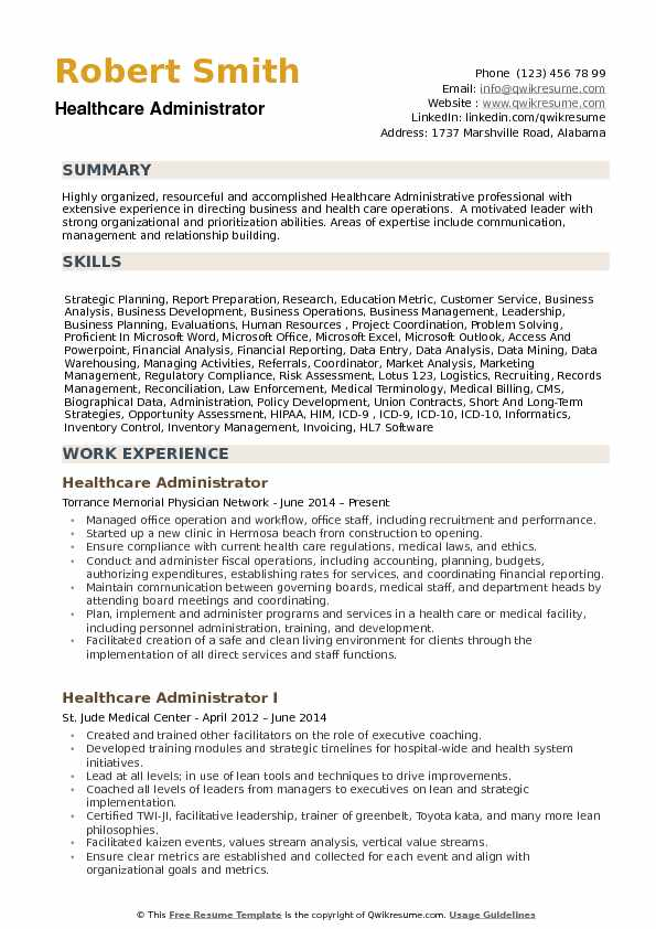 healthcare administrator resume samples qwikresume health care skills for pdf collection Resume Health Care Skills For Resume