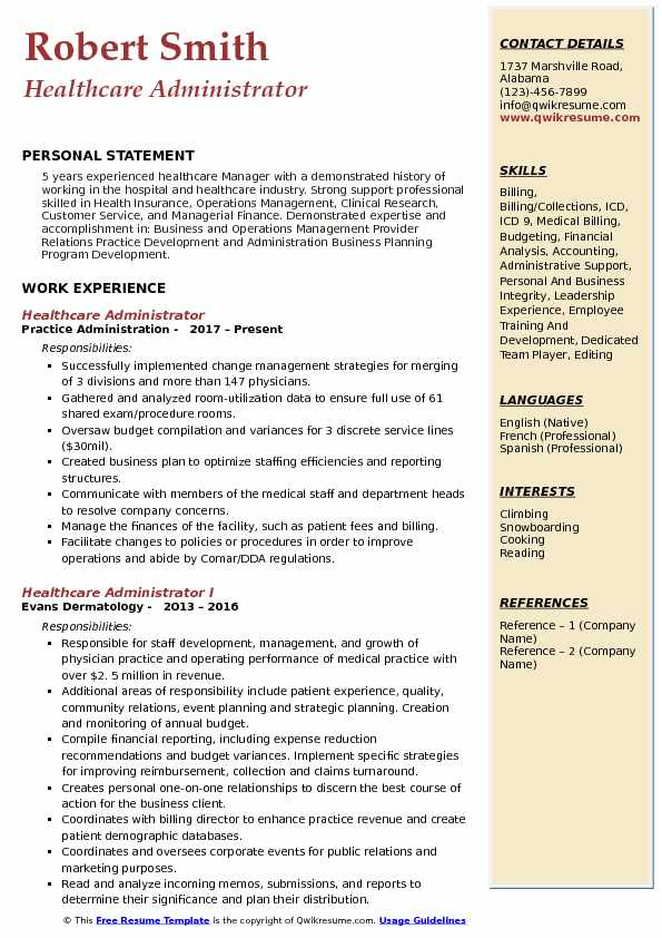 healthcare administrator resume samples qwikresume medical administration examples pdf Resume Medical Administration Resume Examples