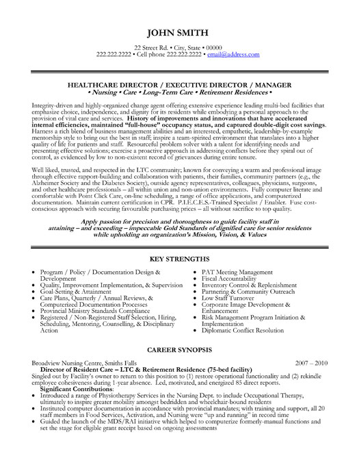 healthcare director resume sample template for professional med executive optimal umass Resume Sample Resume For Healthcare Professional