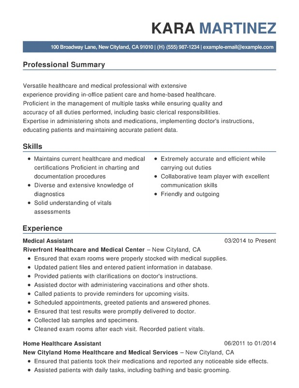 healthcare medical functional resume samples examples format templates help sample for Resume Sample Resume For Healthcare Professional