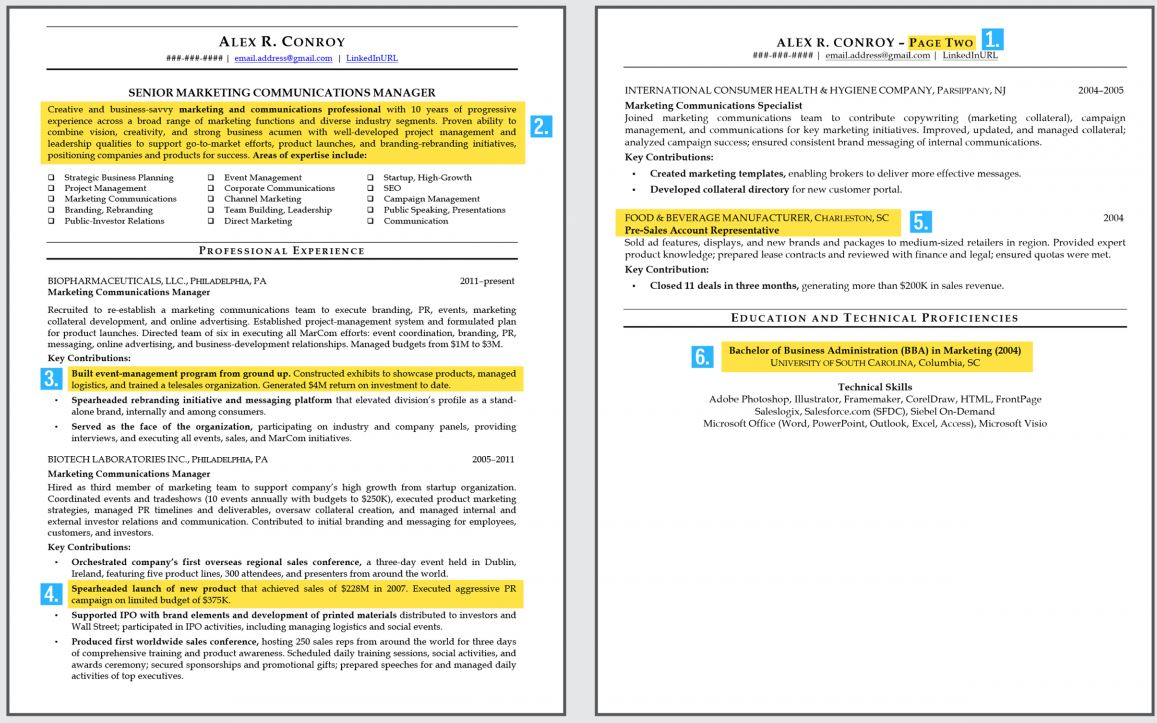 here level professional resume should look like more than one business insider cours Resume Resume More Than One Page