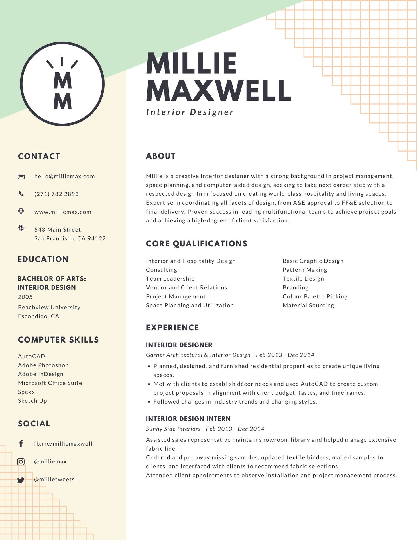 here your resume should look like in millennial format pastel and yellow interior Resume Millennial Resume Format