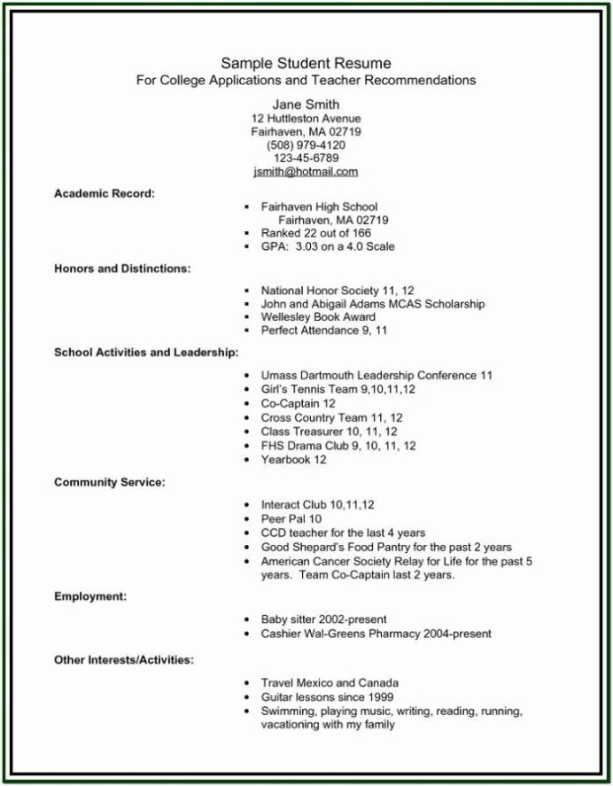 high school resume builder awesome for college students student template military job Resume Resume Builder For Students