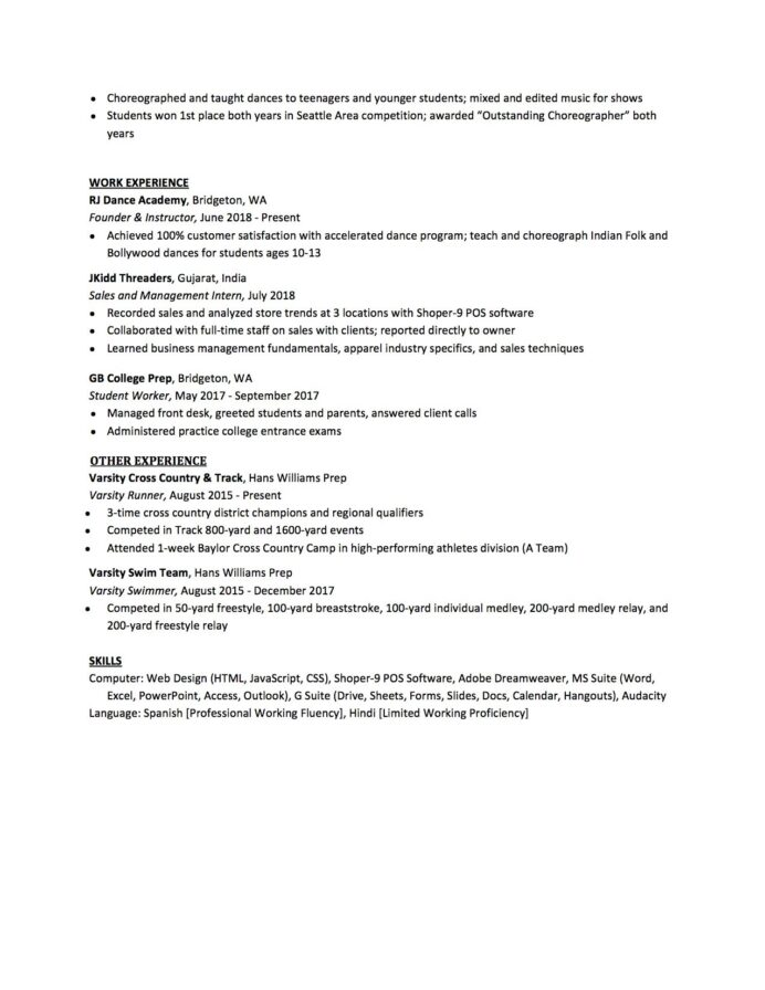 high school resume to write the best one templates included student for college template Resume Music Resume For High School Student