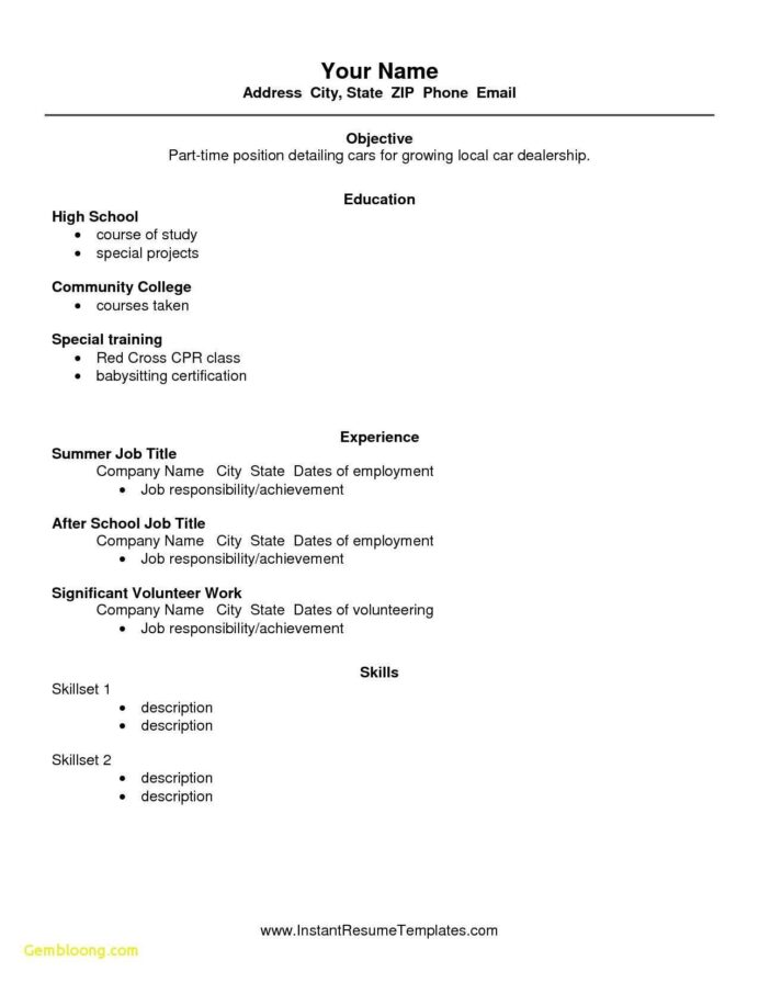 high school student academic resume template secrets you not want to know about first job Resume Resume Template After First Job