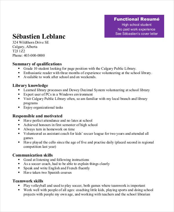 high school student resume templates pdf free premium with work experience functional Resume High School Student Resume With Work Experience