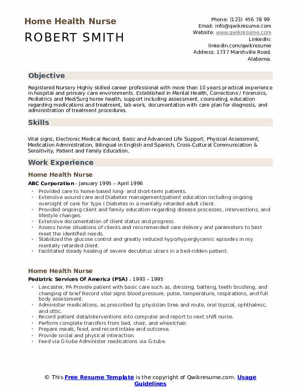 home health nurse resume samples qwikresume experienced registered pdf trade marketing Resume Experienced Registered Nurse Resume