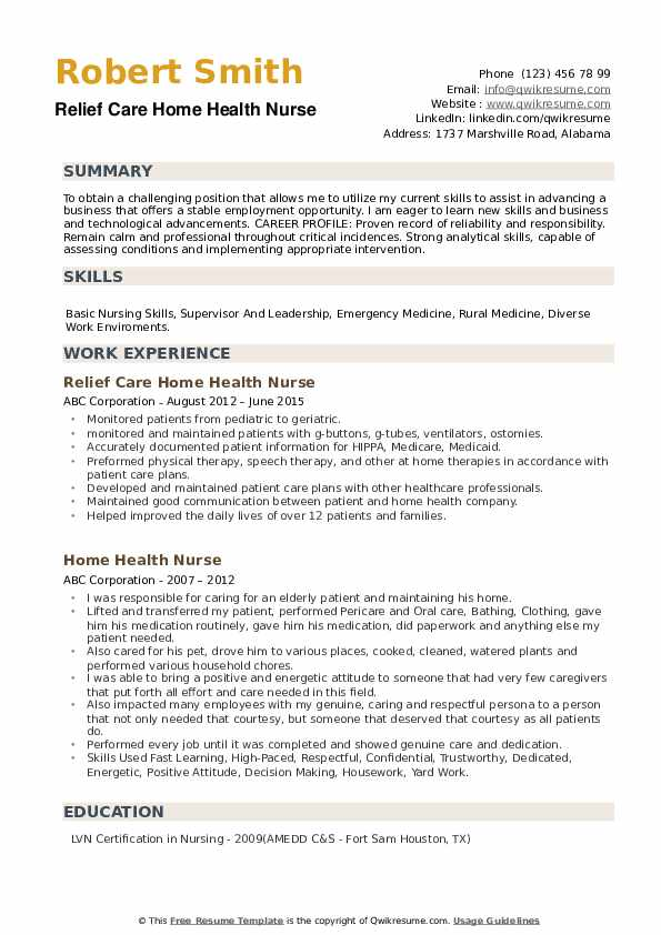 home health nurse resume samples qwikresume lpn job description for pdf computer science Resume Home Health Lpn Job Description For Resume