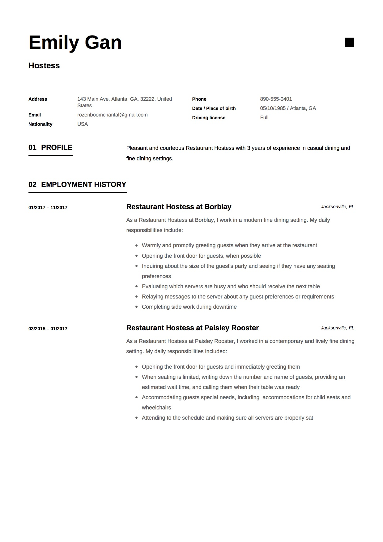 hostess resume guide examples free downloads for restaurant emily gan template sample Resume Resume Examples For Restaurant Hostess