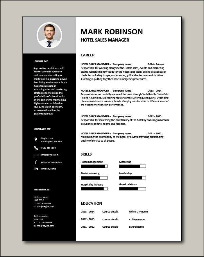 hotel manager resume hospitality marketing guests restaurant example samples careers Resume Hotel Manager Skills Resume
