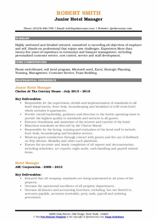 hotel manager resume samples qwikresume skills pdf objective template are there really Resume Hotel Manager Skills Resume