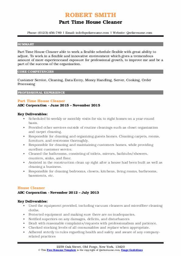 house cleaner resume samples qwikresume for cleaning job pdf wiring harness design Resume Resume For Cleaning Job