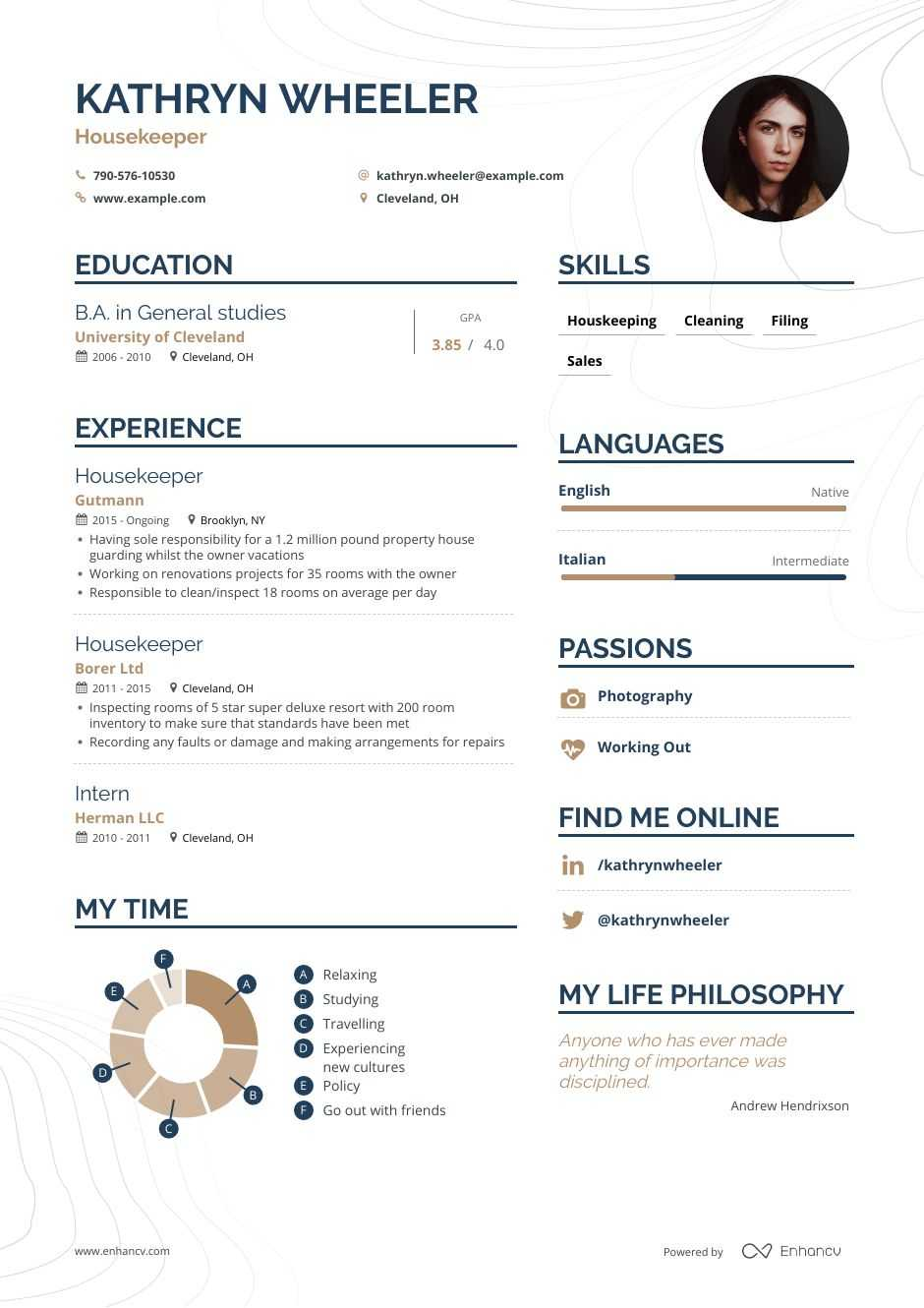 housekeeper resume examples pro tips featured enhancv hotel housekeeping skills reference Resume Hotel Housekeeping Resume Skills