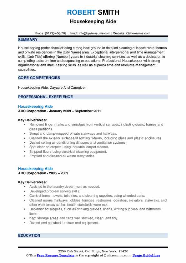 housekeeping aide resume samples qwikresume hospital pdf sample for recent college Resume Hospital Housekeeping Resume