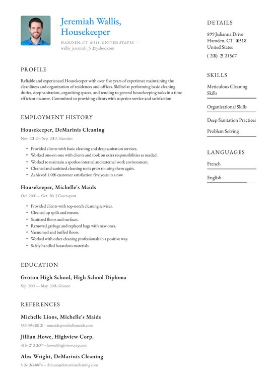 housekeeping resume examples writing tips free guide hotel skills oil rig driller Resume Hotel Housekeeping Resume Skills