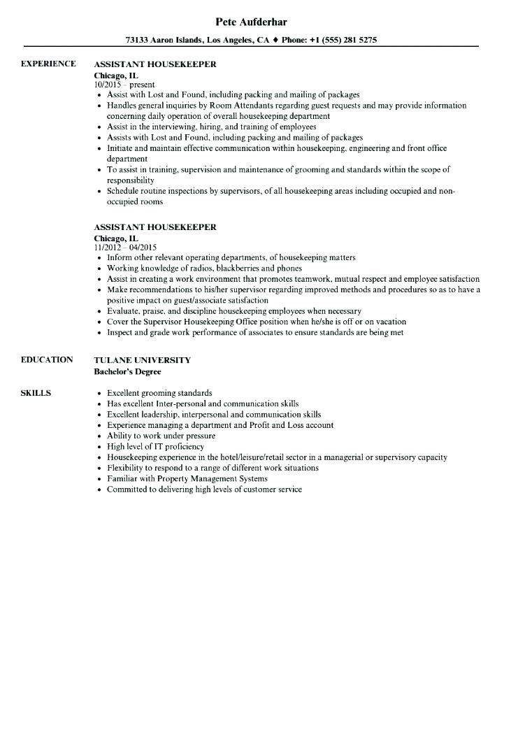 housekeeping resume sample best examples hospital skills trade finance for property and Resume Hospital Housekeeping Resume