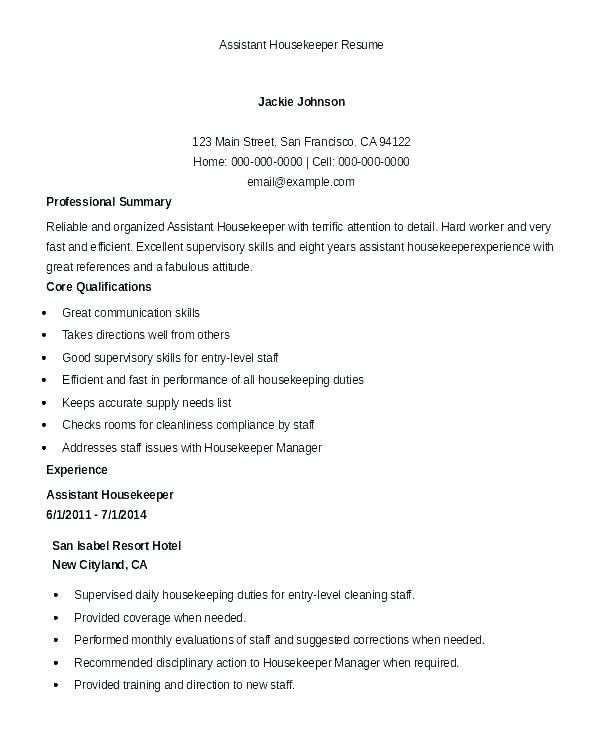 housekeeping supervisor resume sample pdf best examples hospital don ts professional Resume Hospital Housekeeping Resume