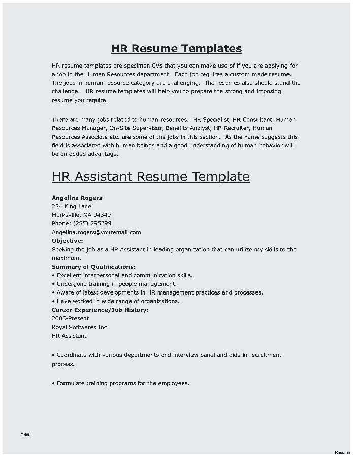 hr skills for resume job format work related credit executive catchy objective train new Resume Work Related Skills For Resume